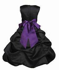 NEW BLACK DRESS FLOWER GIRL HOLIDAY BRIDESMAID QUINCEANERA PARTY PAGEANT WEDDING
