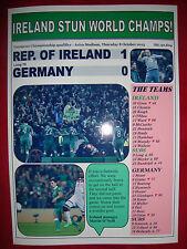 Republic of Ireland 1 Germany 0 - 2015 - Euro 2016 qualifier - souvenir print