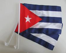CUBA / CUBAN CAR WINDOW FLAG - 2 PACK NEW