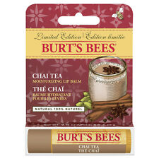 [BURT'S BEES] 100% Natural Beeswax Lip Balm Made in USA (CHAI TEA) NIB NEW