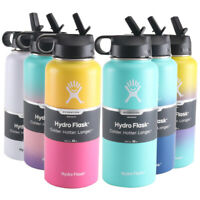 Hydro Flask Water Bottle Vacuum Insulated Straw Steel Stainless Wide Mouth Sport