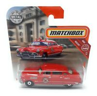 Matchbox MBX Superfast 2018 No 64 Hudson Hornet Fire 1951 red short blister card