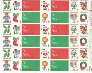 "1984 AMERICAN LUNG ASSOCIATION ""SEASON'S GREETINGS"" CHRISTMAS SEALS"