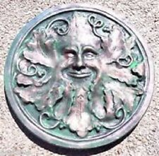 "Mould plaster concrete greenman plastic mold  12"" x  1"" thick"