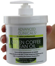 Advanced Clinicals Green Coffee Bean Oil Thermo Firming Cream 16 Oz (454g)