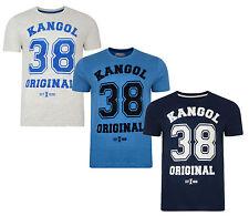 Kangol 38 Original New Mens Printed Slim Logo T-Shirt Branded Print Top S M L XL