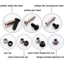 50pcs M2-M5 Phillips Head Round Screw Bolt Hex Self-locking Nylock Nut Locknut