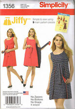 Easy Vtg 70 Retro Reversible Wrap Dress Jiffy Sewing Pattern Plus 14 16 18 20 22