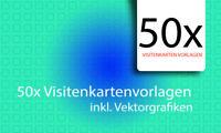 50x Visitenkarte Templates Vorlagen Visitenkarten Layout inkl. PSD Dateien