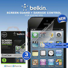 iPhone 5 5s 5c Damaged Control Crystal Clear Screen Guard Protector Belkin pack3