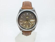 Orologio Vintage SEIKO 5 Automatico Acciaio Doppia data DayDate anni 70 509vv15