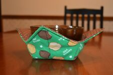 New listing Quilted microwave bowl / pot holder / hugger (cozy) Girl Scout Cookies