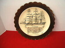 """Vintage Decorative Gift Plate """"Ship Father Quote"""" Gare Inc. 1977"""