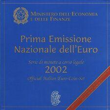Italia 2002 Ufficiale Euro Moneta Set BU Ministero Dl'Economia E Delle Finanze
