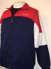 Vintage Adidas 1980's Track Jump Suit Running Warm Up Jacket Old School Hip Hop