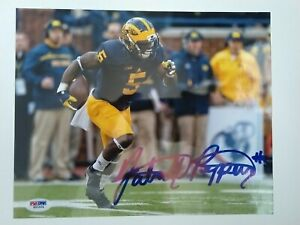 JABRILL PEPPERS SIGNED MICHIGAN WOLVERINES 8X10 PHOTO PSA ROOKIE GRAPH COA