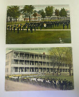 Vintage Carlise Indian School Postcards Set Of Two (2) One Posted One Unposted