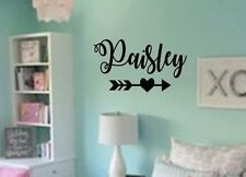 PERSONALIZED NAME HEART ARROW  Vinyl Wall Art Decal Kids Children Nursery Room