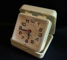 Vintage Cream Westclox travel alarm clock battery operated. Movement China