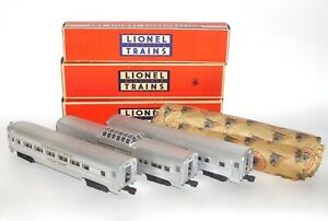 High Grade Set 3 Lionel Flat Channel Passenger Cars 2531 2532 2533 OB DAKOTApaul