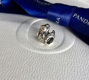 Authentic Genuine Pandora Silver Bird Swan Ugly Duckling Charm #790319