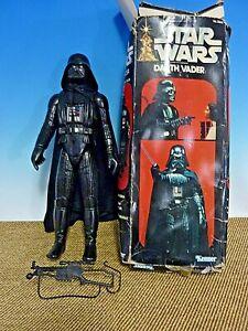 """Vintage Kenner Star Wars DARTH VADER 15"""" Poseable Action Figure + Box 1977-1978?"""
