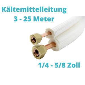 """Isolierte Kältemittelleitung für Klimaanlagen 1/4"""" + 5/8""""  9mm"""