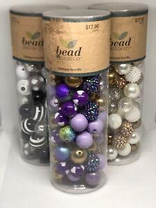 Crafters Jewelry Making Bundle, Bubblegum Beads, String, Pendants
