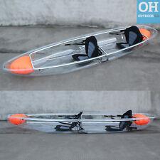 GoSea Transparent Clear Crystal Double Tandem Kayak Canoe Sea River Ocean