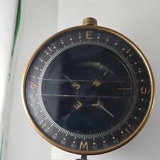 Vintage ship compass  solid Brass, rare military  collectible !working