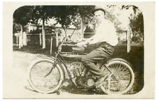 """RPPC Motorcycle """"Indian"""" with Rider Close-Up"""
