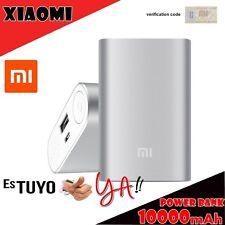 Xiaomi original Power Bank bateria externa 10000 mAh gris plata