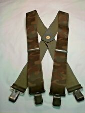 "New, Men's, Woodland Green Camouflage, XL, 2"" Adj. Suspenders / Braces,  USA"