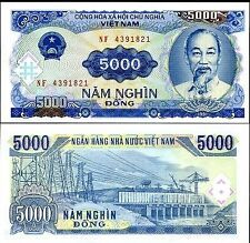 VIETNAM 5000 DONG UNC  # 109
