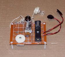 LOW COST Science Fair UNBUILT one 1 VACUUM TUBE vintage AM radio receiver kit