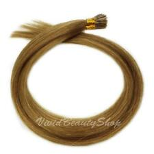 50 I Stick Tip Micro Beads Straight Remy Human Hair Extensions Golden Brown #10