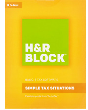 New Sealed H&R Block Basic Federal Tax Software 2016