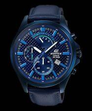 EFV-530BL-2A Black Edifice Casio Men's Watches Genuine Leather Band