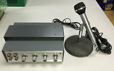 Vintage Herald Public Address Amplifier Am-49A & M066A Cardioid Microphone
