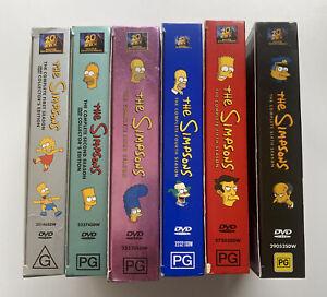 The Simpsons Series Complete Seasons 1-6 1 2 3 4 5 6 DVD Sets Region 4 R4 Series