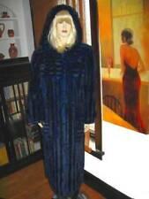 PLUS SIZE Cobalt Blue Rex Rabbit FUR Hooded Coat  14/16