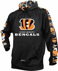 Zubaz NFL Men's Cincinnati Bengals Pullover Hoodie with Camo Print