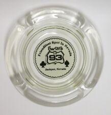 "Barton's Club 93 Inc. Casino Jackpot Nevada 4.5"" Round Glass Ashtray Friendliest"