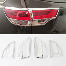 ABS Chrome Rear Tail Light Lamp Cover Trim Frame For Toyota Highlander 2018 2019