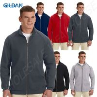 NEW Gildan Mens Premium Cotton Ringspun Fleece Full Zip Jacket S-3XL MG929