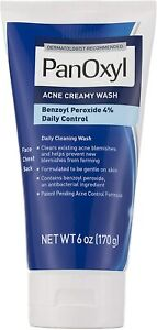 PanOxyl Antimicrobial Acne Creamy Wash, 4% Benzoyl Peroxide, 170g