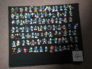 Konvolut von 100 Schlumpf-Figuren (siehe Foto)