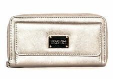 Kenneth Cole Women URBAN ORGANIZER Faux Leather Ladies WALLET Silver i759x
