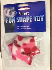 MARSHALL PET FERRET STAR SHAPE TOY WITH SAFETY BELL 1 PACK. FREE SHIP TO THE USA