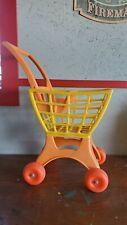 Mattel Tuff Stuff Shoppin' Basket Vintage 1971 #4740 Orange Yellow Shopping Cart